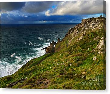 Botallack Crown Mines Canvas Print by Louise Heusinkveld