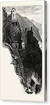 Botallack Mine, Uk, Britain, British, Europe Canvas Print