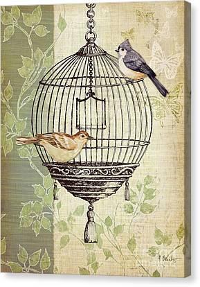 Birdcage Canvas Print - Botanical Birdcage I by Paul Brent