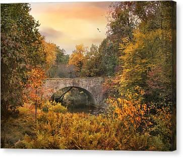 Botanical Bridge Canvas Print by Jessica Jenney