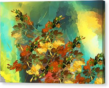 Canvas Print featuring the digital art Botanical Fantasy 090914 by David Lane