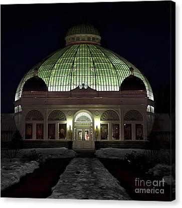 Botanical Gardens Panoramic Canvas Print by Mark Baker