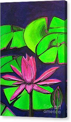 Botanical Lotus 1 Canvas Print by Grace Liberator