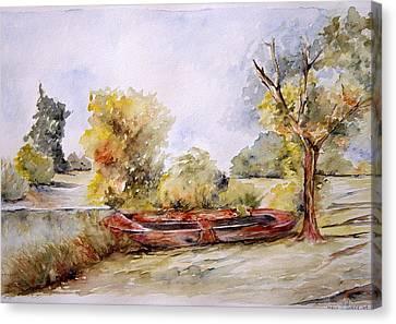 Bote Viejo Canvas Print