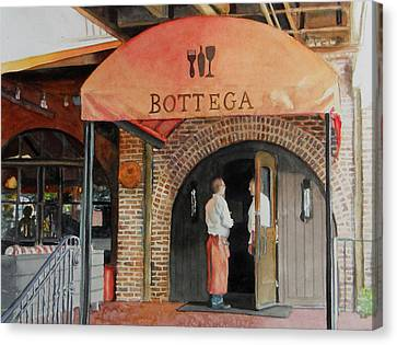Canvas Print featuring the painting Bottega by Gail Chandler