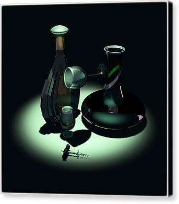 Bottle And Carafe Canvas Print by Andrei SKY