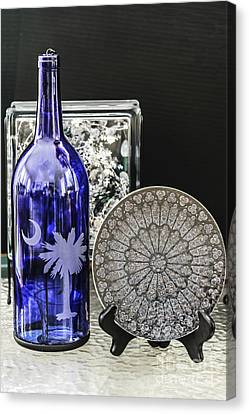 Bottle And Plate Canvas Print