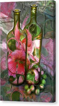 Canvas Print featuring the digital art Bottle Art by Sharon Beth