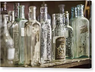 Bottle Collection Canvas Print by Heather Applegate
