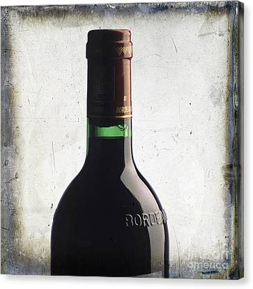 Bottle Of Bordeaux Canvas Print by Bernard Jaubert