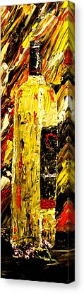 Bottle Of Wine  Canvas Print by Mark Moore
