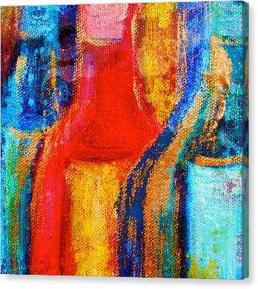 Bold Colors Canvas Print - Bottle Shapes by Debi Starr