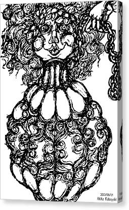 Bottled Lady Canvas Print by Akiko Okabe