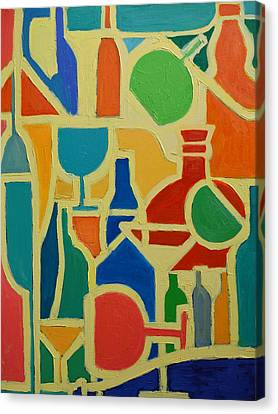 Bottles And Glasses 2 Canvas Print by Ana Maria Edulescu