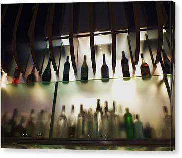 Bottles At The Bar Canvas Print by Anna Villarreal Garbis