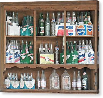 Bottles Canvas Print by Brenda Conrad
