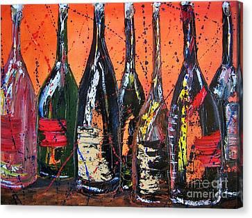 Vino Canvas Print - Bottle's Enjoyed by Jodi Monahan
