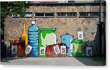 Bottles  Canvas Print by Kees Colijn