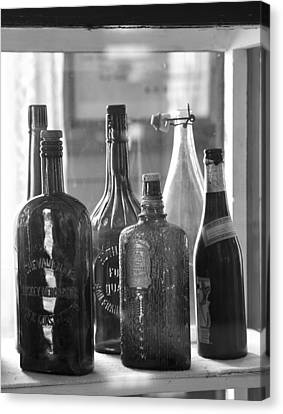 Canvas Print featuring the photograph Bottles Of Bodie by Jim Snyder