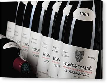 Bottles Of Vosne-romanee Premier Cru Cros Parantoux Canvas Print by Anonymous