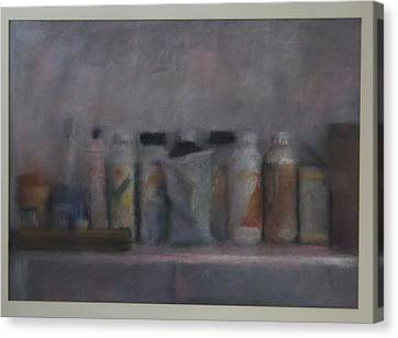 Bottles On A Shelf II Canvas Print