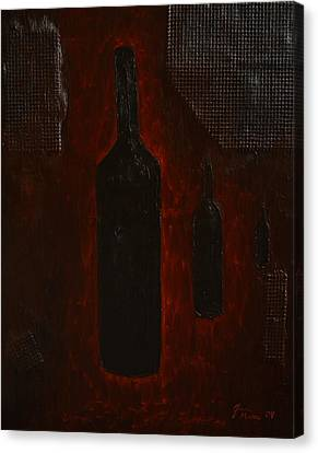 Canvas Print featuring the painting Bottles by Shawn Marlow