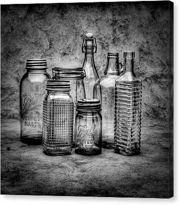 Bottles Canvas Print by Timothy Bischoff