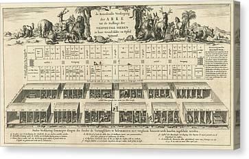 Bottom Floor Of Noahs Ark, Jan Luyken, Wilhelmus Goeree Canvas Print by Jan Luyken And Wilhelmus Goeree (i)