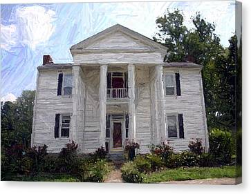 Bottom-mcafee-guthrie House - Perryville Ky Canvas Print by Thia Stover