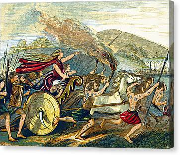 Boudica Leading British Tribes, 60 Ad Canvas Print by British Library