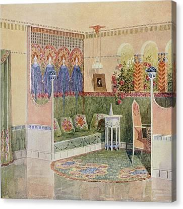 Boudoir, From A Villa In Helsinki Canvas Print by .