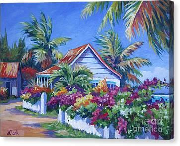 Bougainvillea Cottage Canvas Print