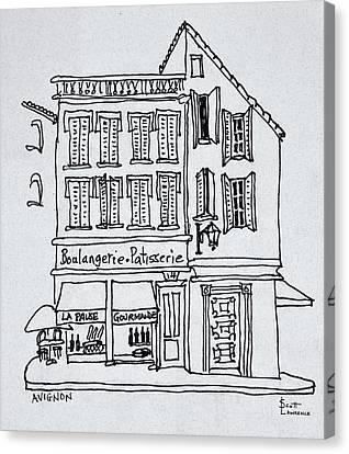 Boulangerie Canvas Print - Boulangerie Patisserie, Avignon, France by Richard Lawrence