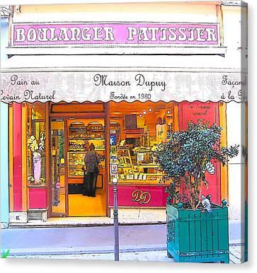 Boulangerie Canvas Print - Boulangerie Patisserie In Paris by Jan Matson