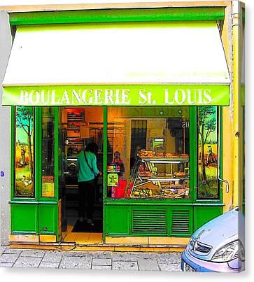 Boulangerie Canvas Print - Boulangerie St Louis by Jan Matson