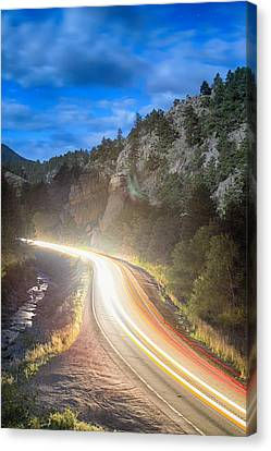 Boulder Canyon Neon Light  Canvas Print by James BO  Insogna