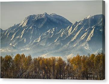 Golden Canvas Print - Boulder Colorado Flatirons Autumn View by James BO  Insogna