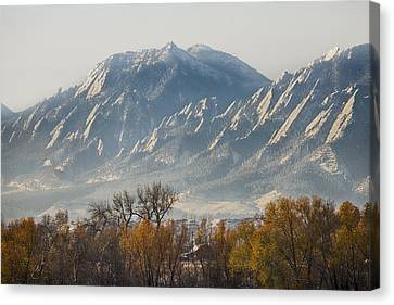 Golden Canvas Print - Boulder Colorado Flatirons Country Fall View by James BO  Insogna