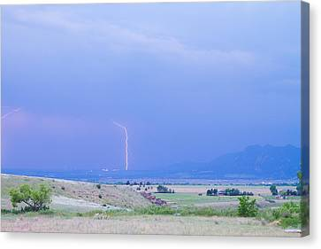 Boulder Colorado Lightning Strike Canvas Print by James BO  Insogna