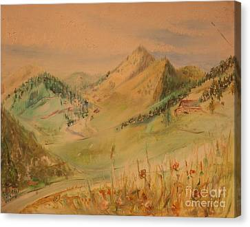 Boulder Colorado Painting Canvas Print