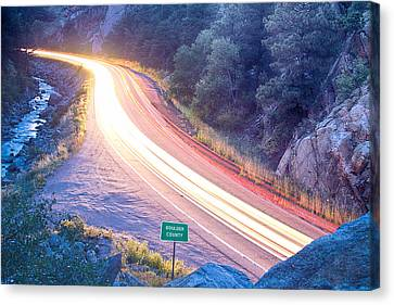 Boulder County Colorado Blazing Canyon View Canvas Print by James BO  Insogna