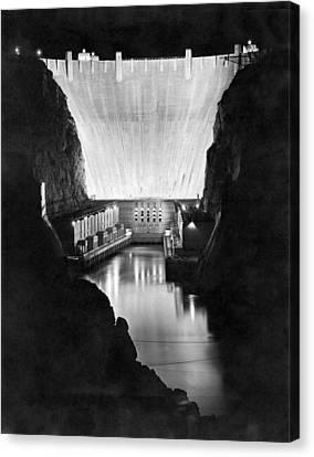 Fdr Canvas Print - Boulder Dam by Underwood Archives