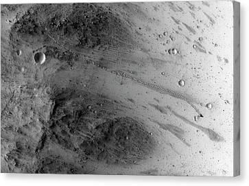 Boulder On Mars Canvas Print