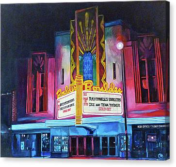Boulder Theater Canvas Print by Tom Roderick
