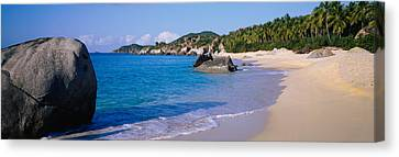 Boulders On The Beach, The Baths Canvas Print by Panoramic Images