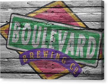 Handcrafted Canvas Print - Boulevard Brewing by Joe Hamilton