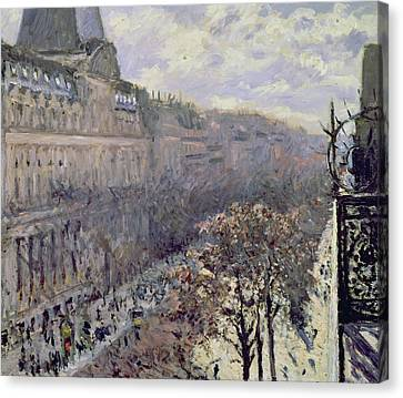 Boulevard Des Italiens Canvas Print by Gustave Caillebotte