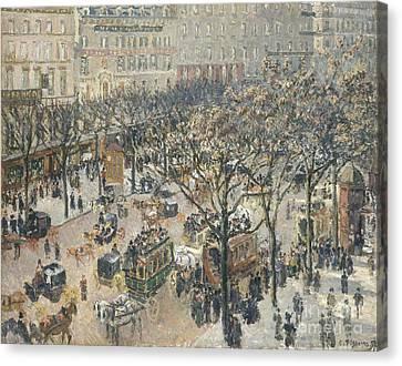 Boulevard Des Italiens Morning Sunlight Canvas Print