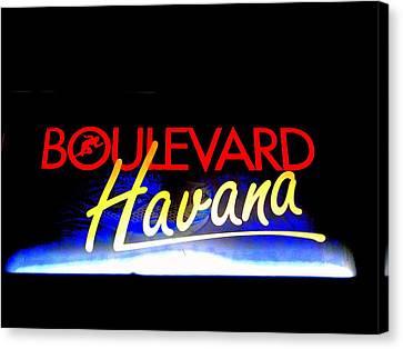 Boulevard Havana Cuba Canvas Print by Funkpix Photo Hunter