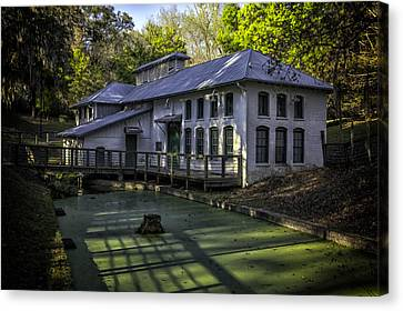 Boulware Springs Water Works Canvas Print by Lynn Palmer